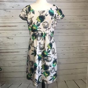 BODEN FLORAL LIMITED EDITION SILK DRESS SIZE 14